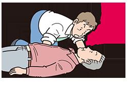 AED心肺蘇生-反応の確認