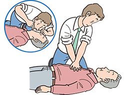 心肺蘇生とAED-胸骨圧迫と人工呼吸