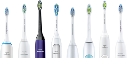 Philips Sonicare electric toothbrushes
