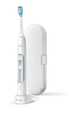 Philips Sonicare ExpertClean with puck and travel case, silver edition